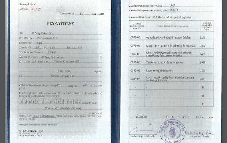 sports coach certificate